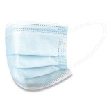 Disposable Earloop Face Mask, Blue, 50/Bx